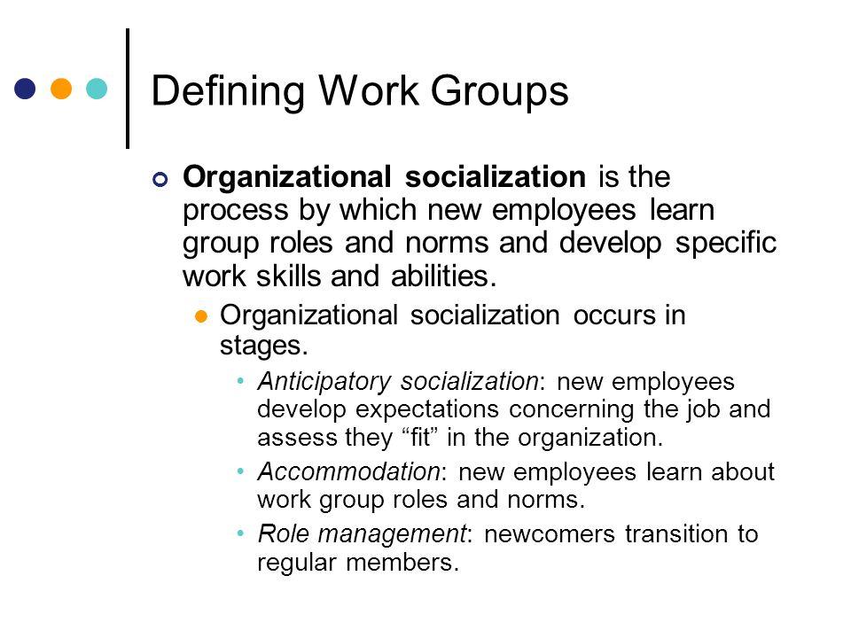 Defining Work Groups