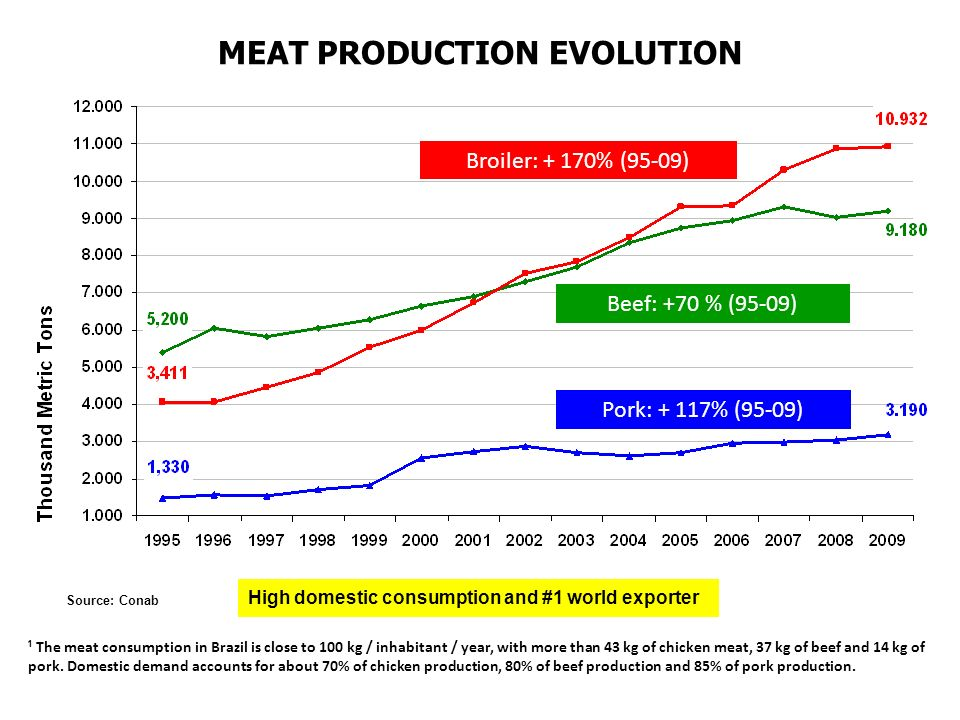 MEAT PRODUCTION EVOLUTION