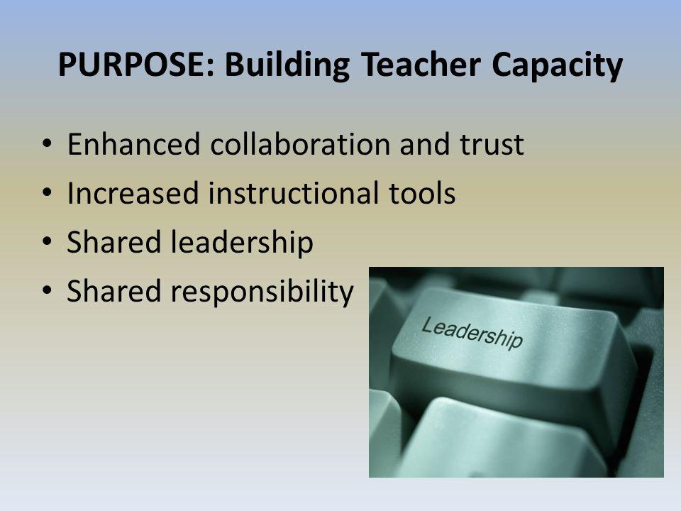 PURPOSE: Building Teacher Capacity