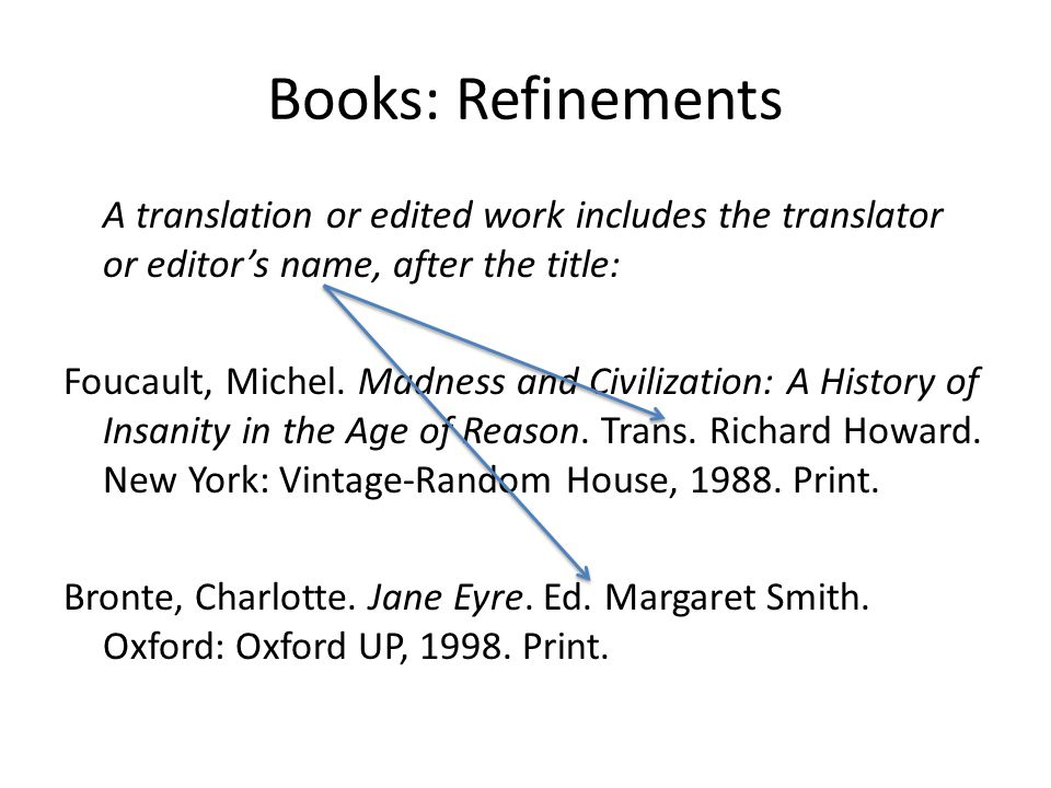 Books: Refinements