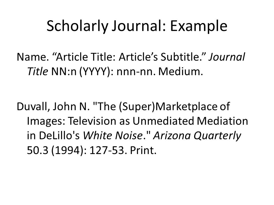 Scholarly Journal: Example