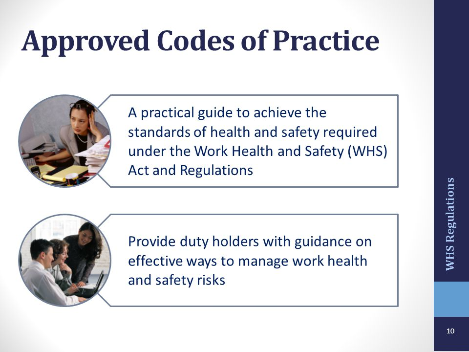 Approved Codes of Practice