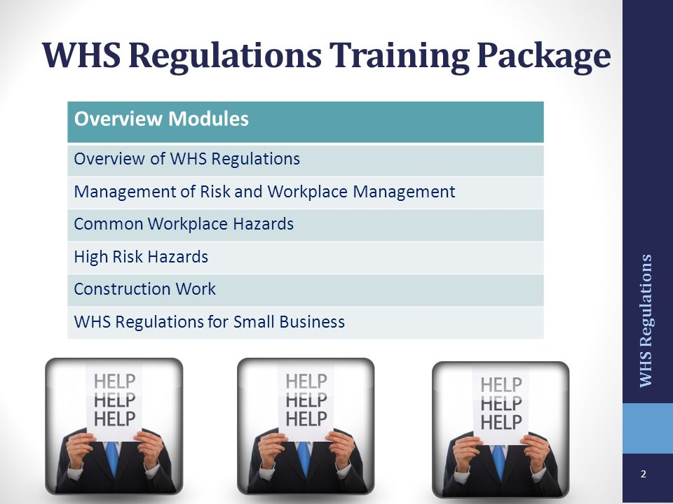 WHS Regulations Training Package