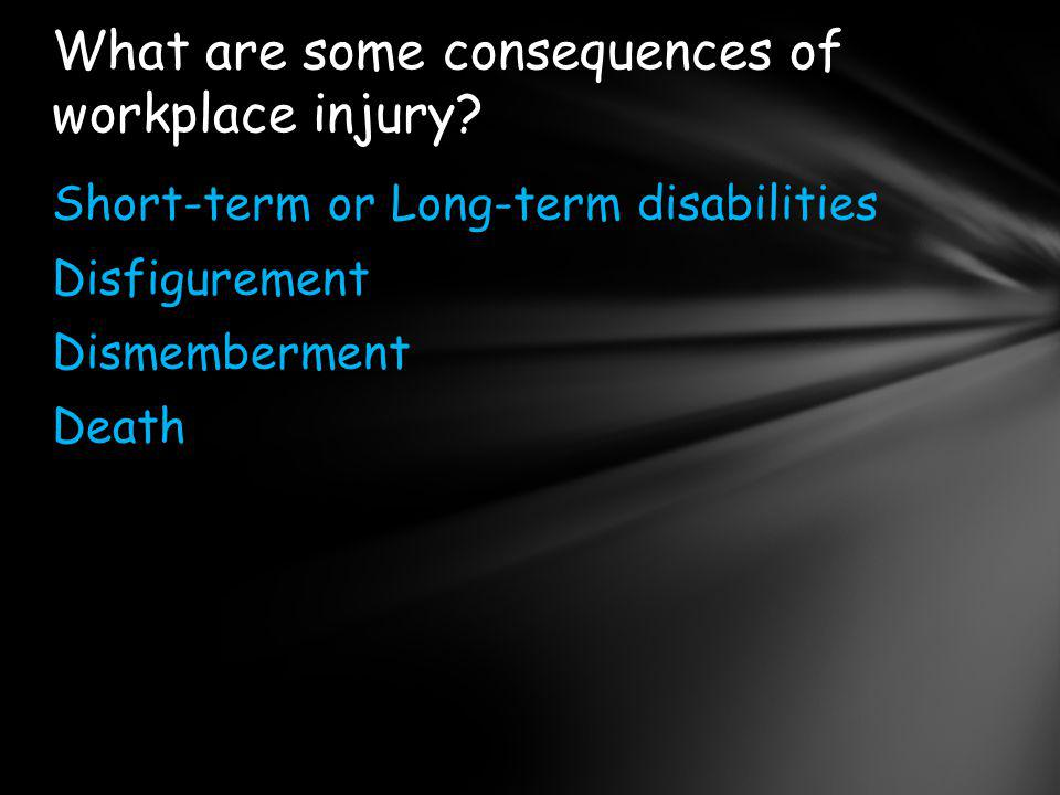 What are some consequences of workplace injury