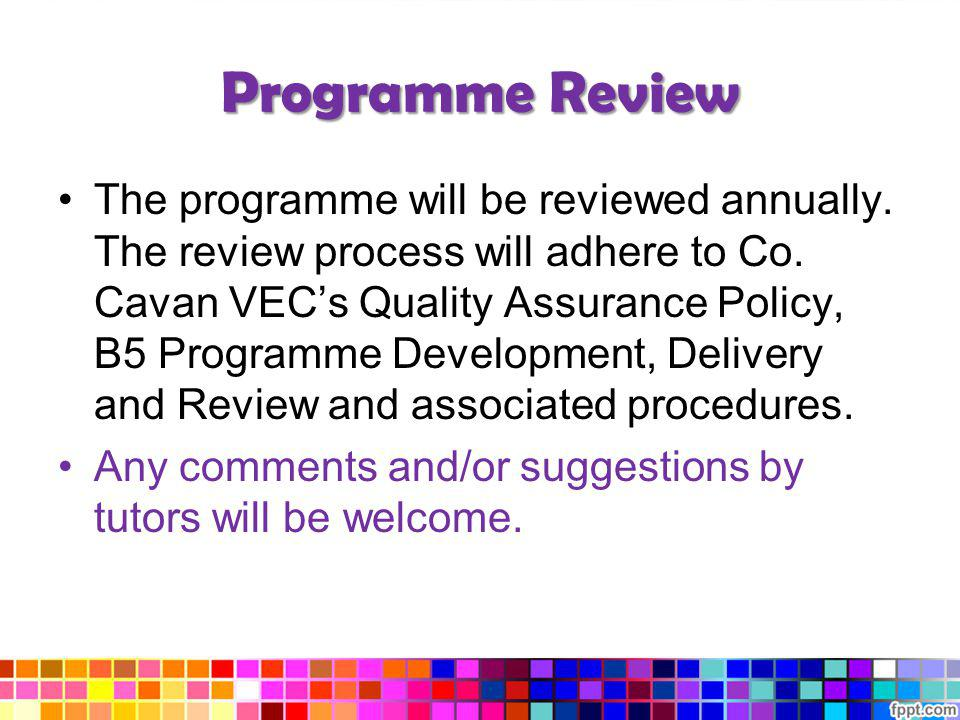 Programme Review