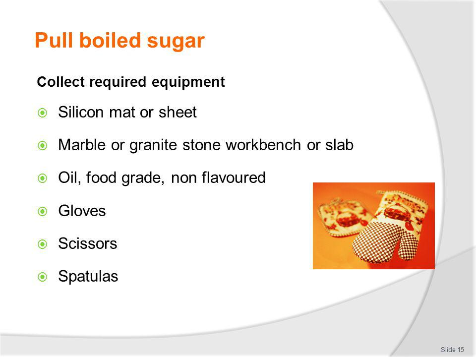 Pull boiled sugar Silicon mat or sheet