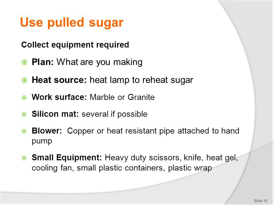 Use pulled sugar Plan: What are you making