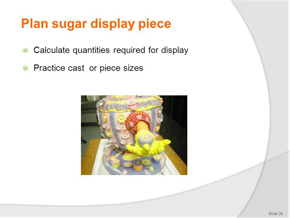 Plan sugar display piece