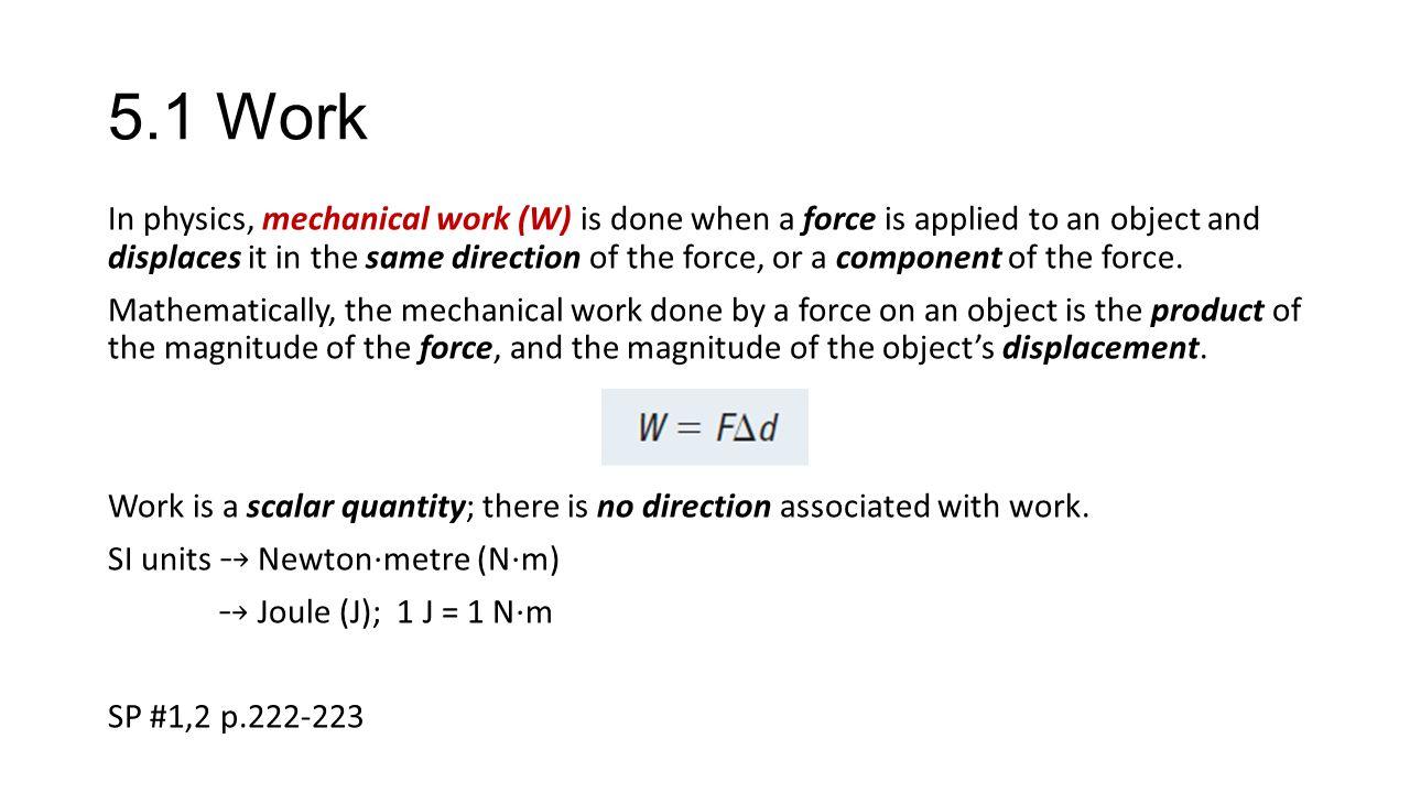 5.1 Work