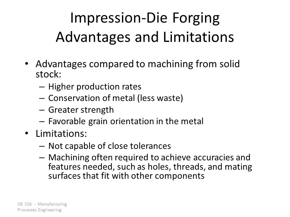 Impression‑Die Forging Advantages and Limitations