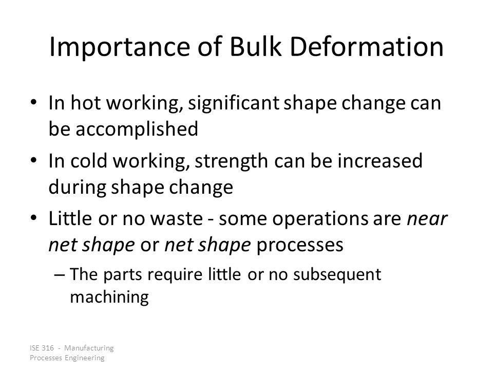 Importance of Bulk Deformation