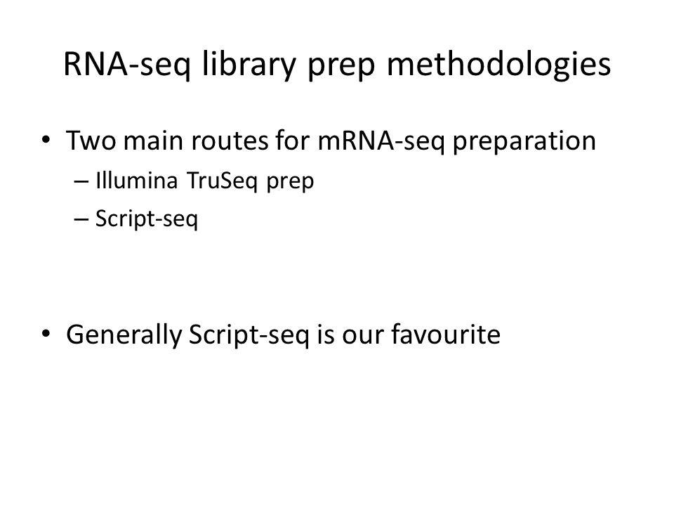 RNA-seq library prep methodologies