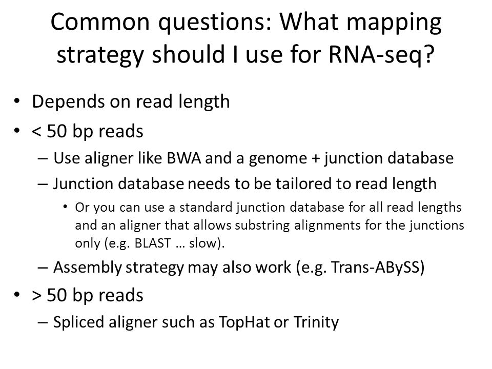 Common questions: What mapping strategy should I use for RNA-seq
