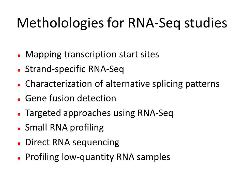 Metholologies for RNA-Seq studies