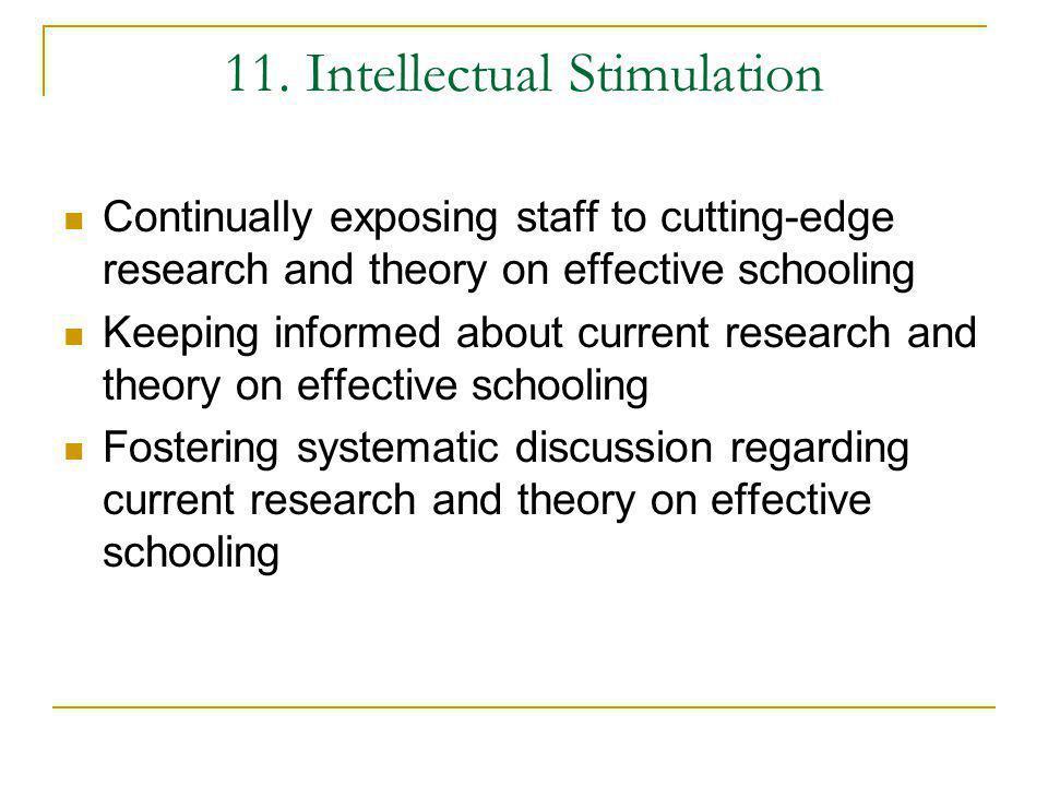 11. Intellectual Stimulation