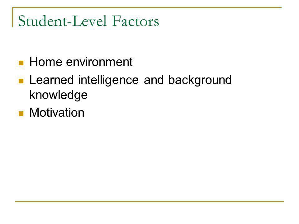 Student-Level Factors