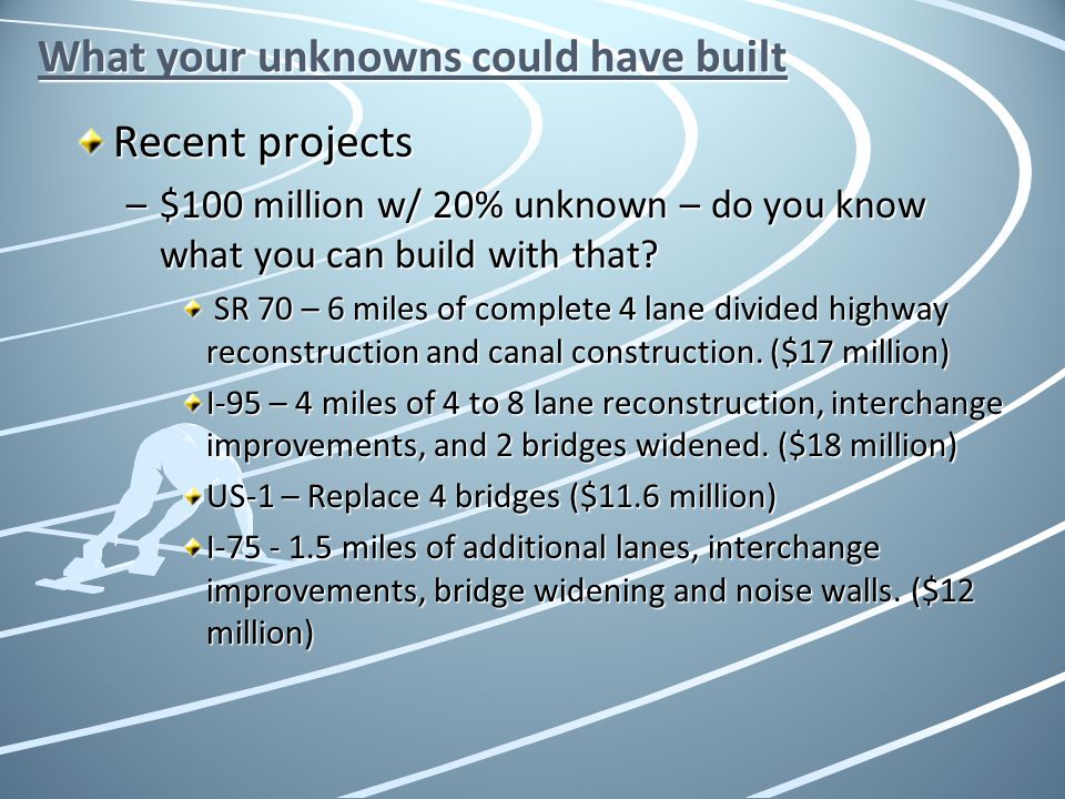 What your unknowns could have built