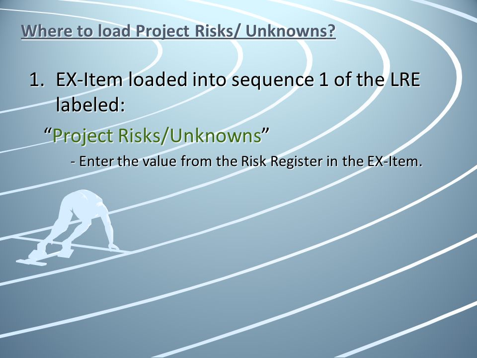 Where to load Project Risks/ Unknowns