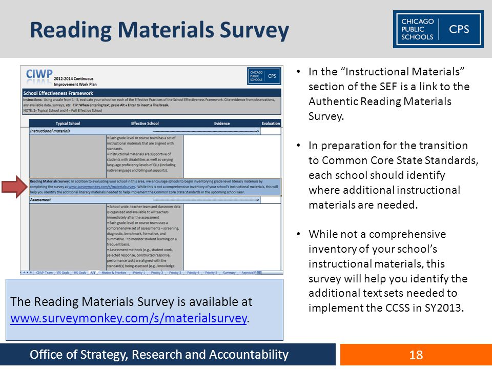 Reading Materials Survey