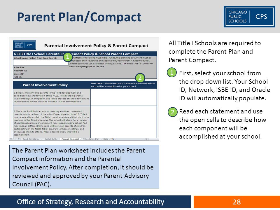 Parent Plan/Compact Office of Strategy, Research and Accountability