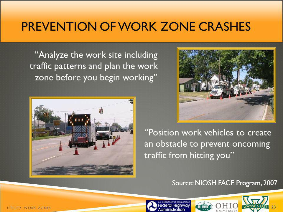 Prevention of work zone crashes
