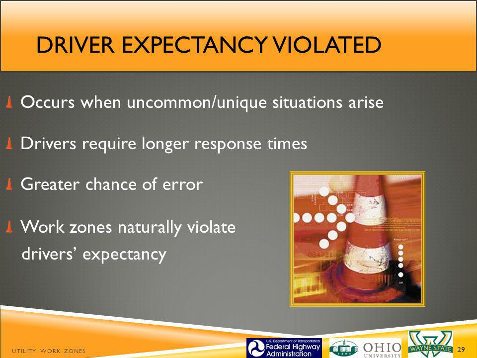Driver expectancy violated