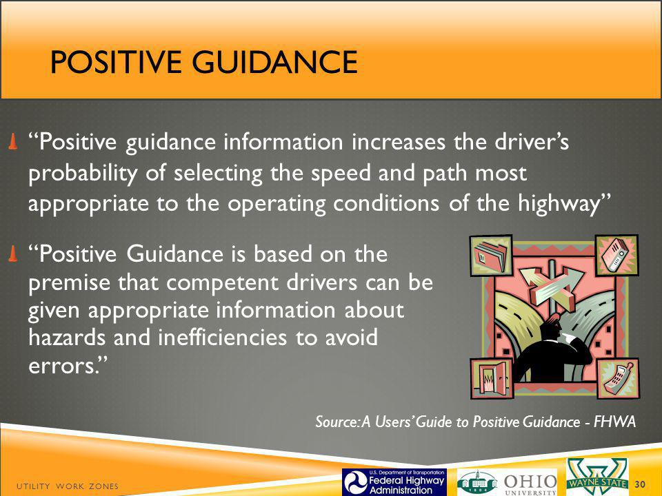 Source: A Users' Guide to Positive Guidance - FHWA