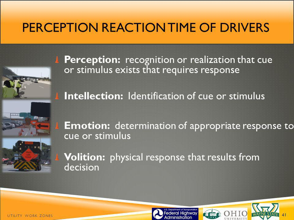 Perception reaction time of drivers