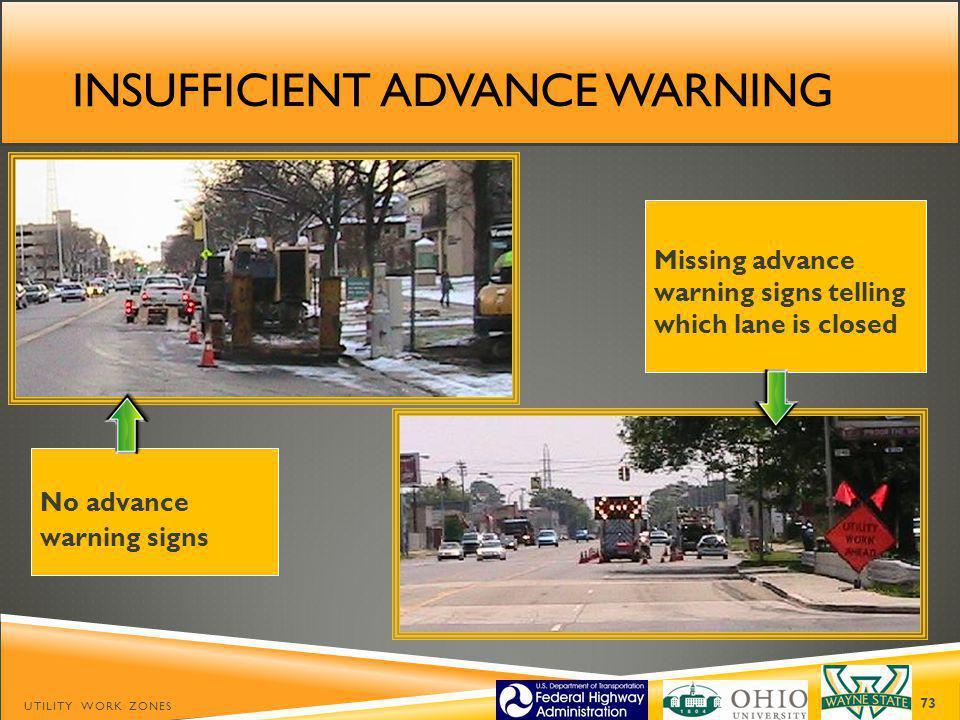 Insufficient Advance warning