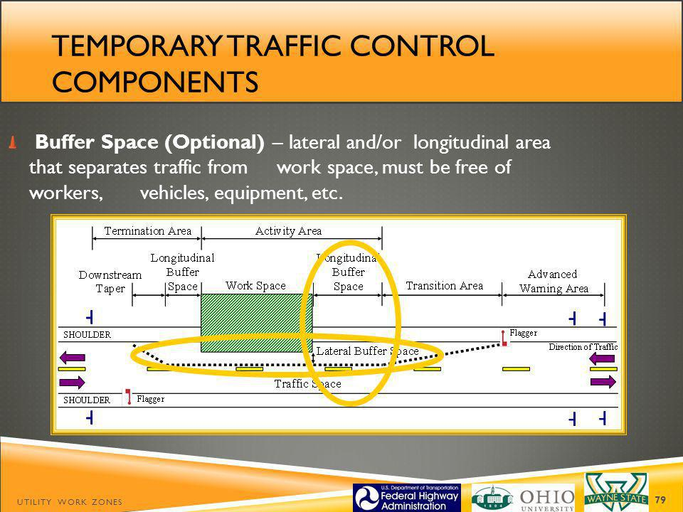 Temporary traffic control components