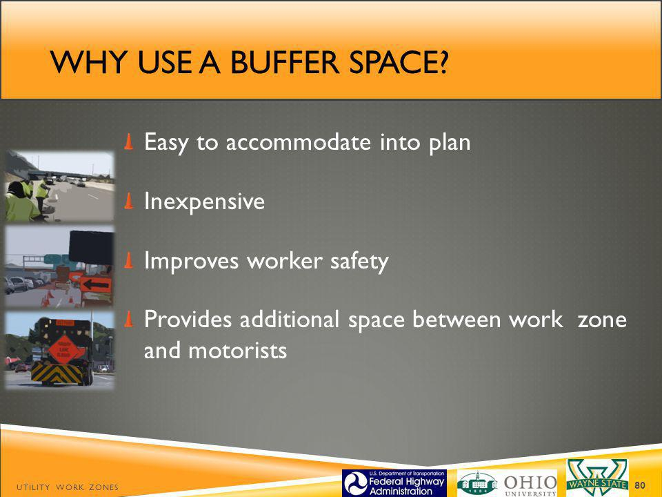Why use a buffer space Easy to accommodate into plan Inexpensive