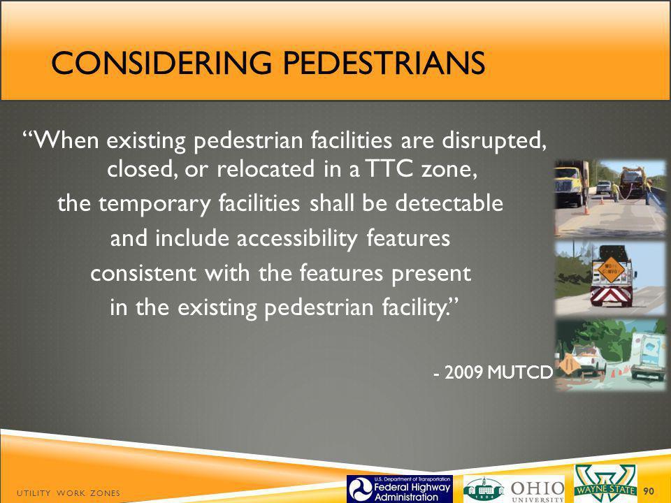 Considering pedestrians