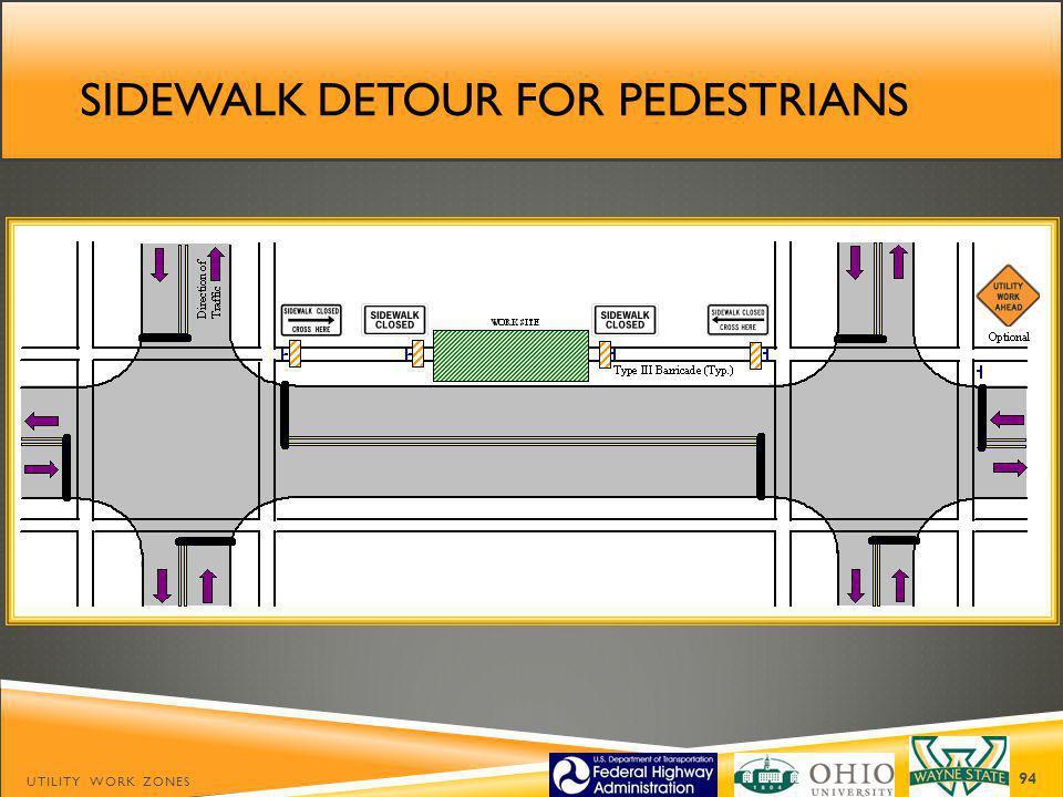 Sidewalk detour for pedestrians