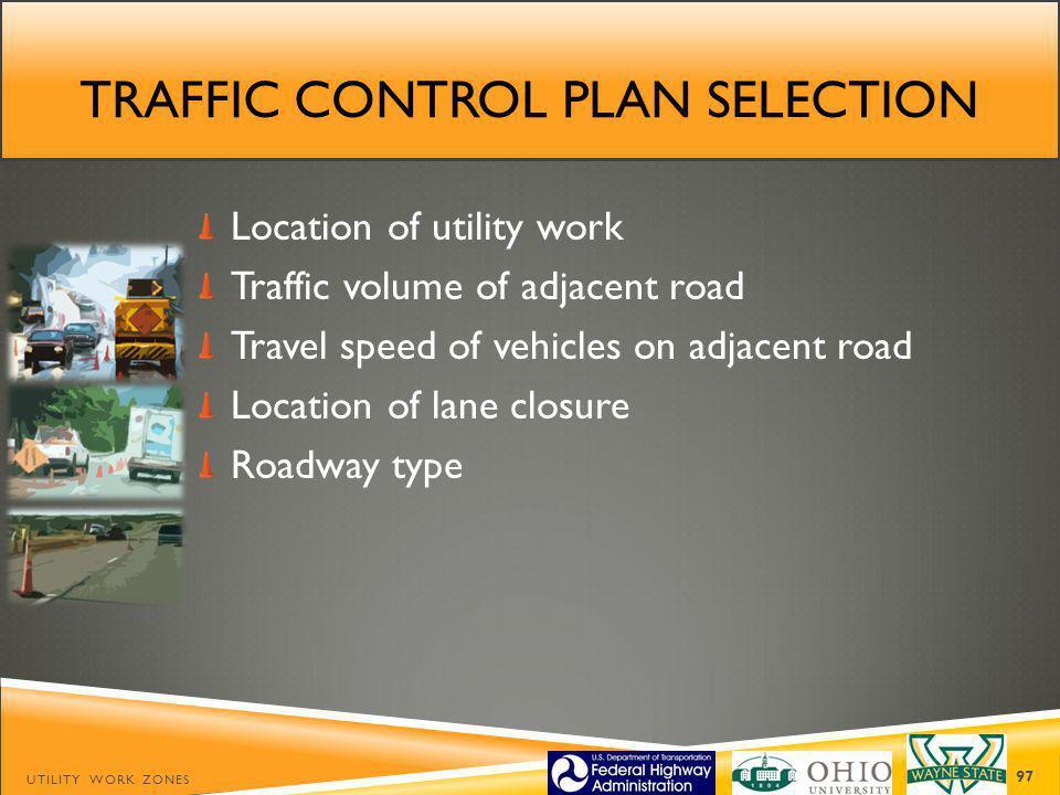 Traffic control plan selection