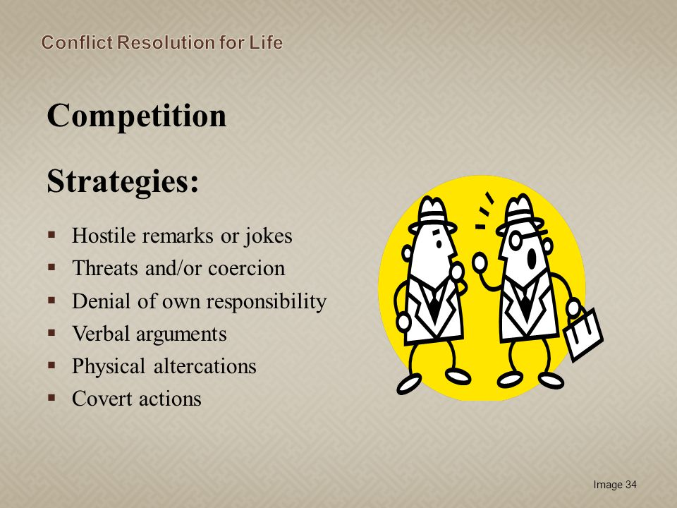 Competition Strategies: Hostile remarks or jokes
