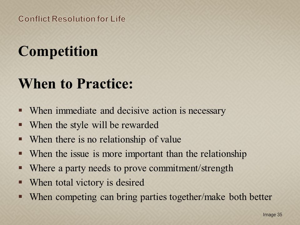 Competition When to Practice: