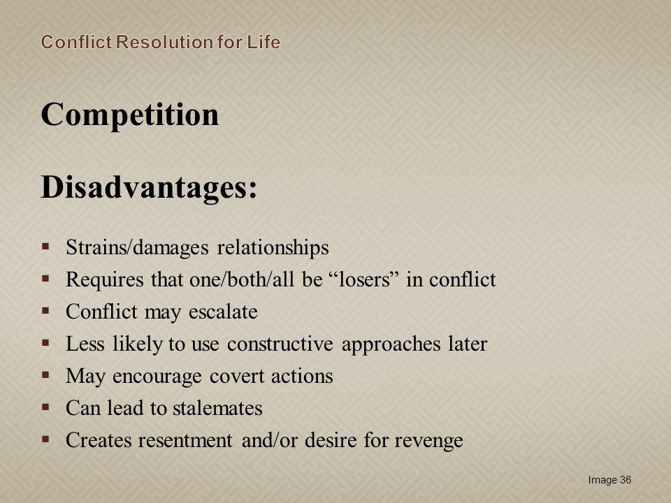 Competition Disadvantages: Strains/damages relationships