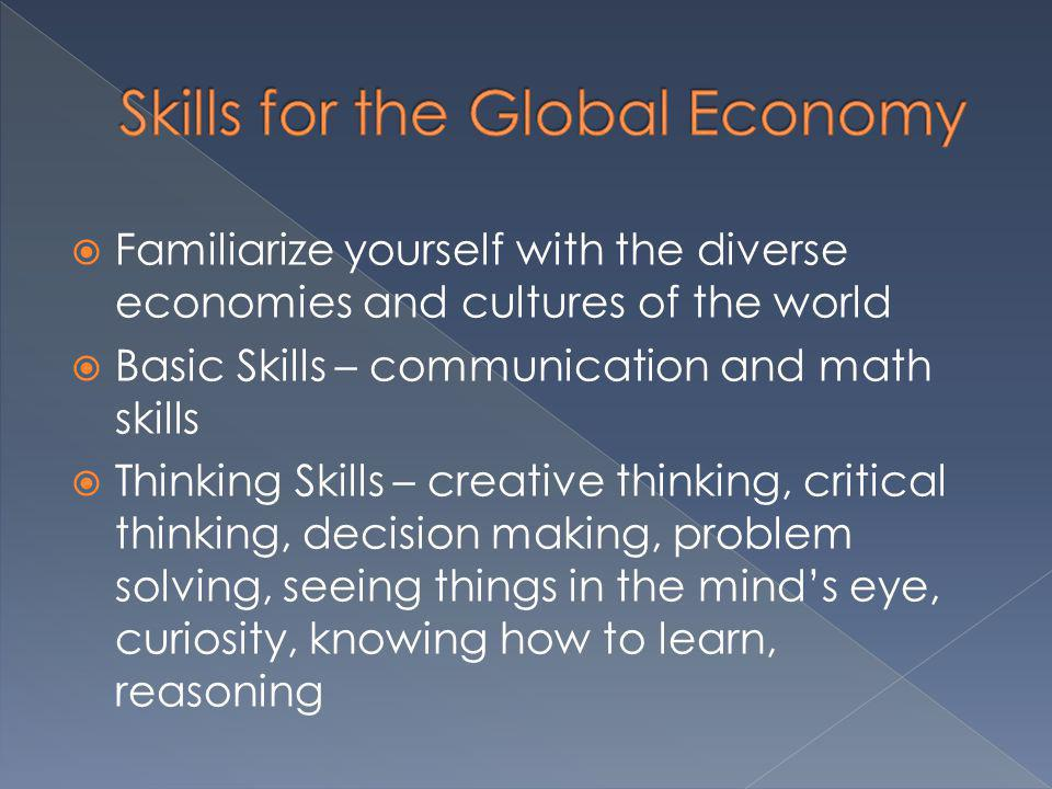 Skills for the Global Economy