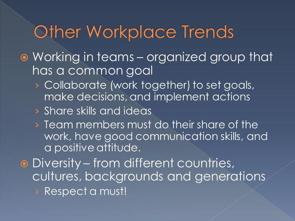Other Workplace Trends