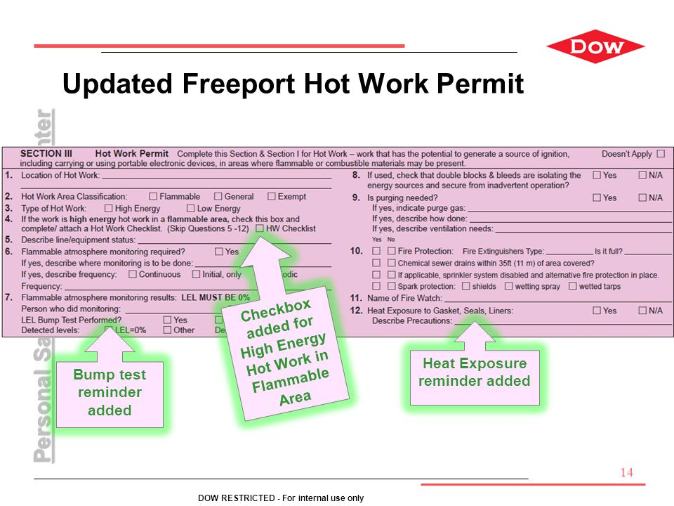 Updated Freeport Hot Work Permit