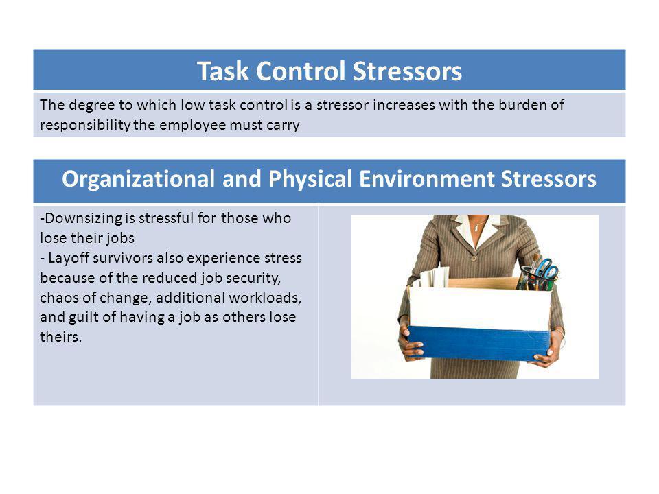 Task Control Stressors