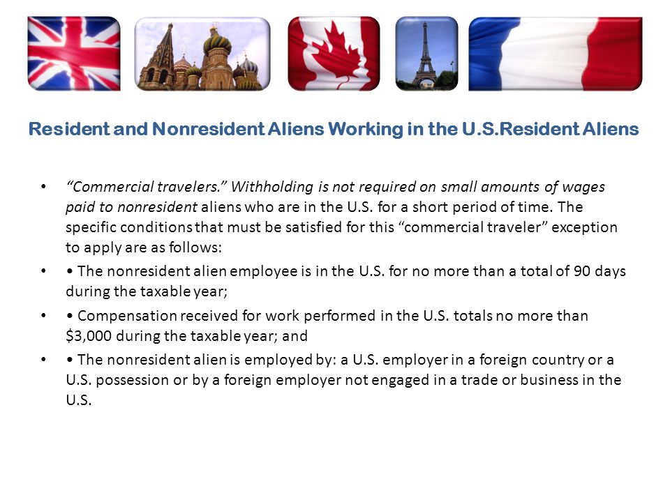 Resident and Nonresident Aliens Working in the U.S.Resident Aliens