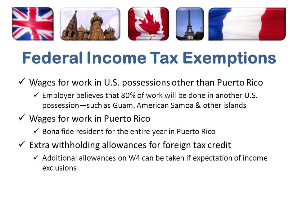 Federal Income Tax Exemptions