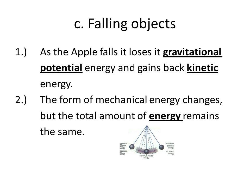 c. Falling objects
