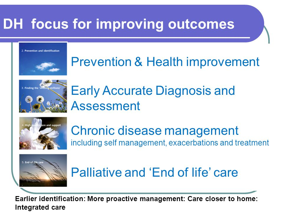 DH focus for improving outcomes