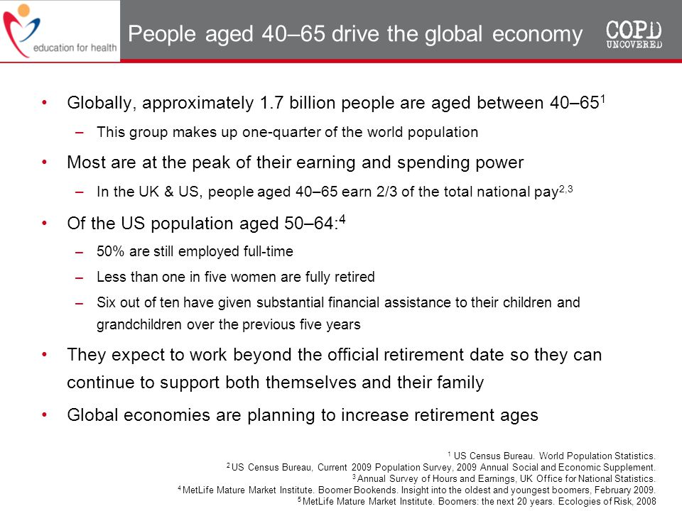 People aged 40–65 drive the global economy
