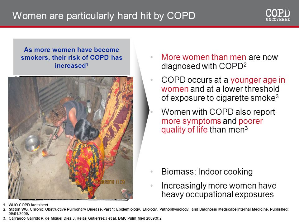 Women are particularly hard hit by COPD