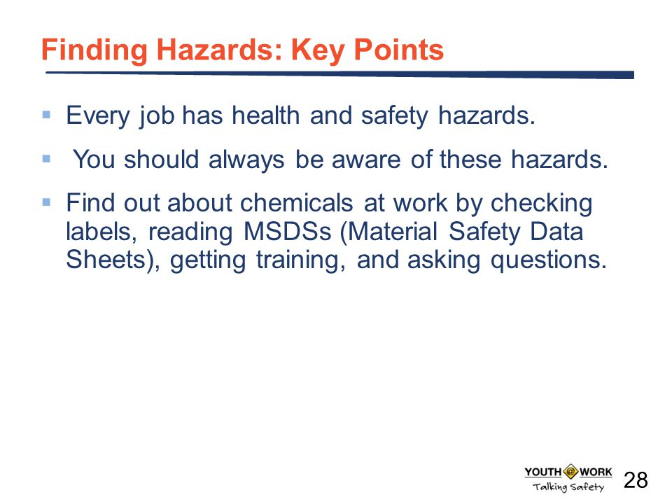 Finding Hazards: Key Points