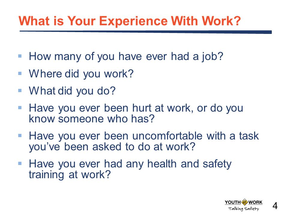 What is Your Experience With Work
