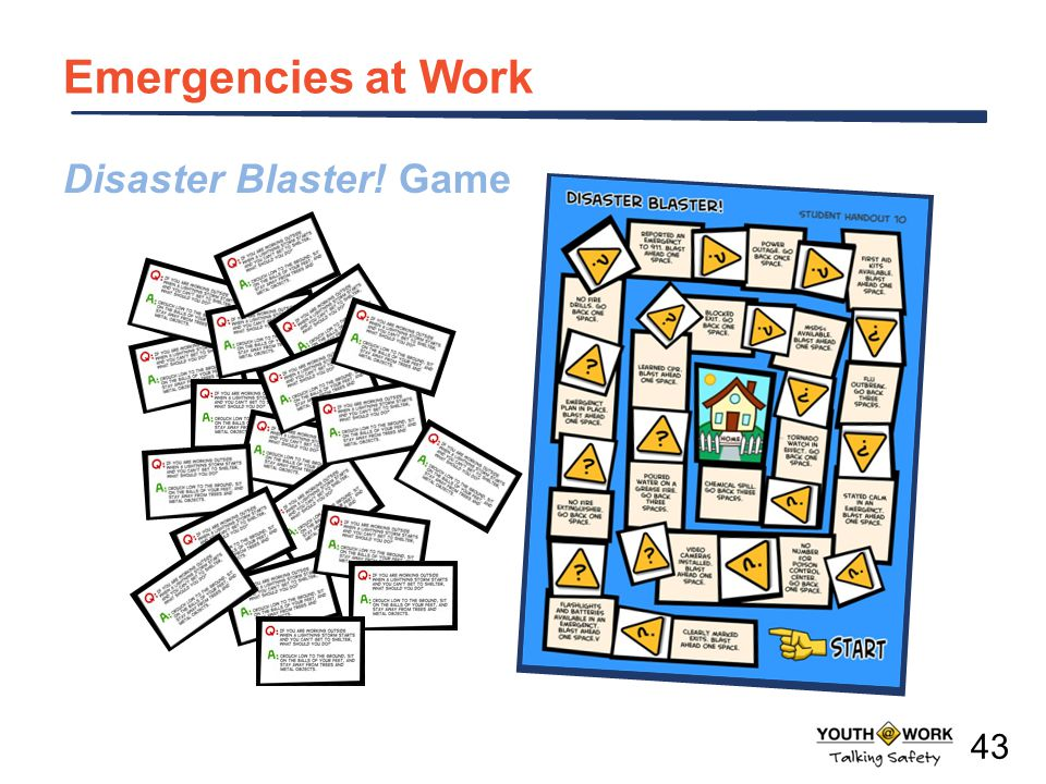 Emergencies at Work Disaster Blaster! Game